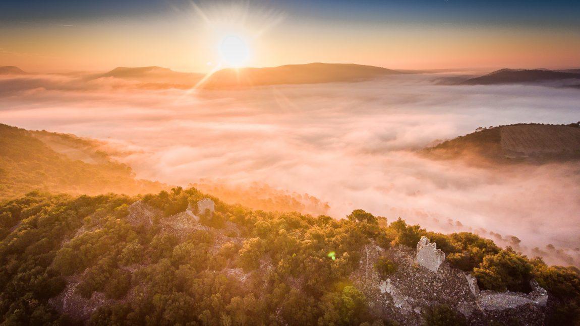 Océan de brouillard à La Roque