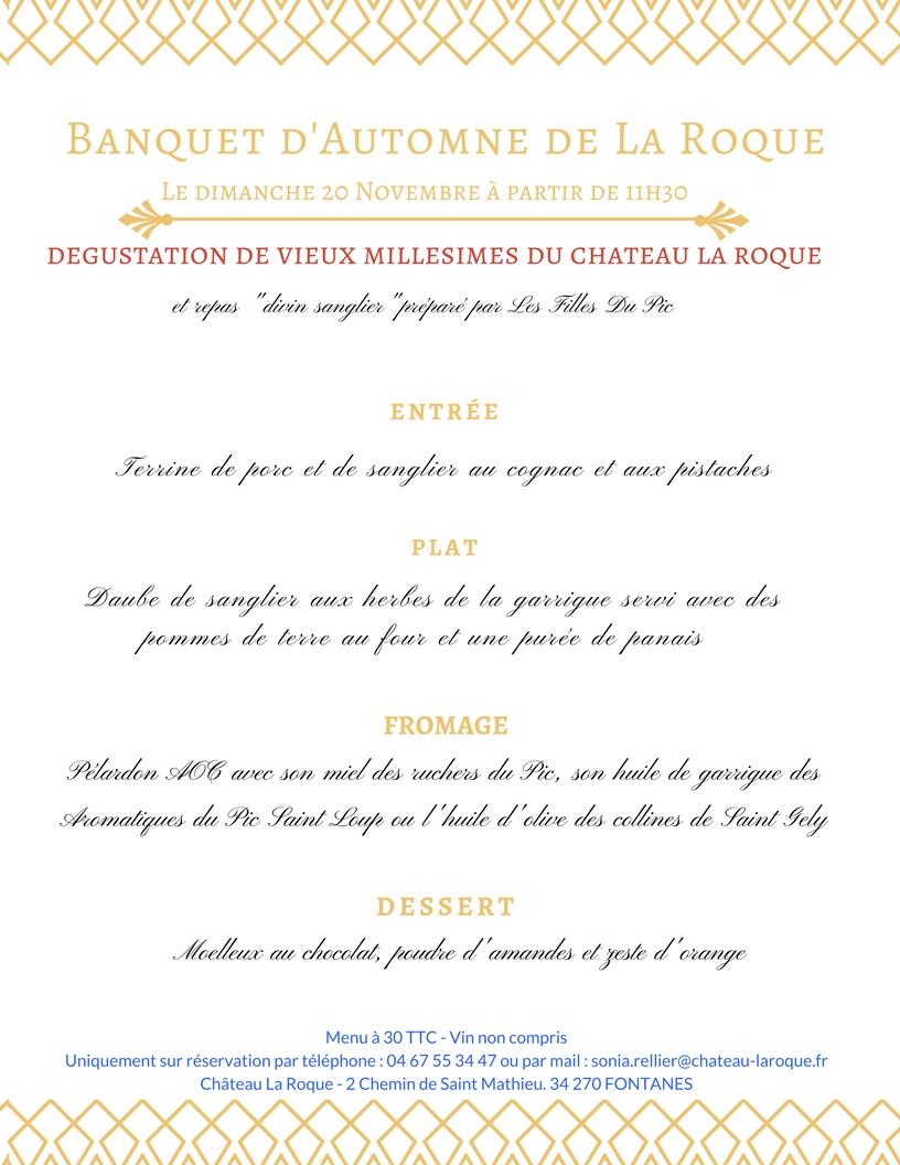 Banquet d'Automne de La Roque – Dimanche 20 Novembre 2016