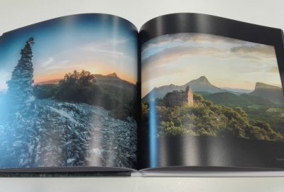 Livre de photographies du Pic Saint Loup par Régis Domergue, en vente au Château La Roque